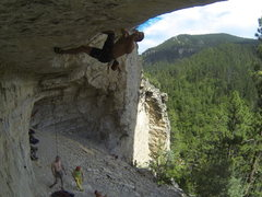 Rock Climbing Photo: Luke Ross projects a route of The Wall on Fame.
