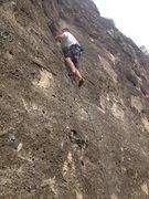 Rock Climbing Photo: First lead climb