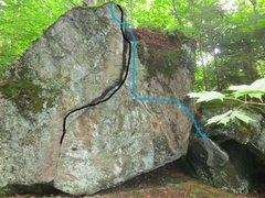 Rock Climbing Photo: black:  wot m8 blue:  cheers