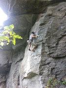 Rock Climbing Photo: Daryl in the crux