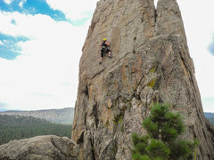 Rock Climbing Photo: Caroline on her second lead ever!  Moving up in th...