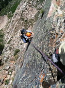Rock Climbing Photo: Franziska focused on the last bit of climbing to t...