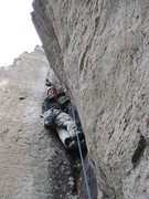 Rock Climbing Photo: me starting the money 3rd dihedral pitch