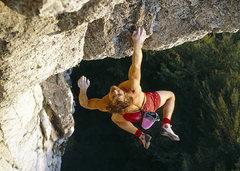 Rock Climbing Photo: Kurt Albert free soloing Devil's Crack on Röthelf...