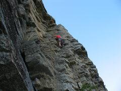 Rock Climbing Photo: Jenn learning DRT on Easy O