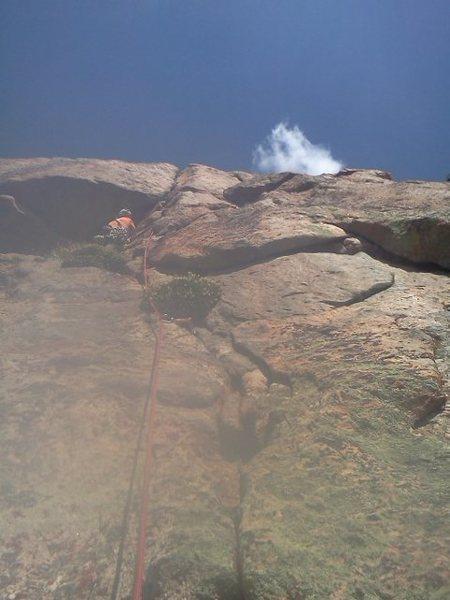 Rock Climbing Photo: Hand crack on P2.