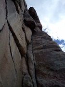 Rock Climbing Photo: Corner system around detached pillar, P3.