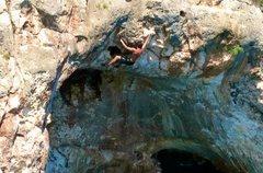 Rock Climbing Photo: Fun, juggy roof climbing on Hercules (6c)