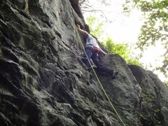 Rock Climbing Photo: The surprisingly tricky top Both my climbing partn...