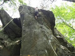 Rock Climbing Photo: Squall 10d almost to the anchor
