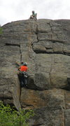Rock Climbing Photo: The top section is super fun. This telephoto shot ...
