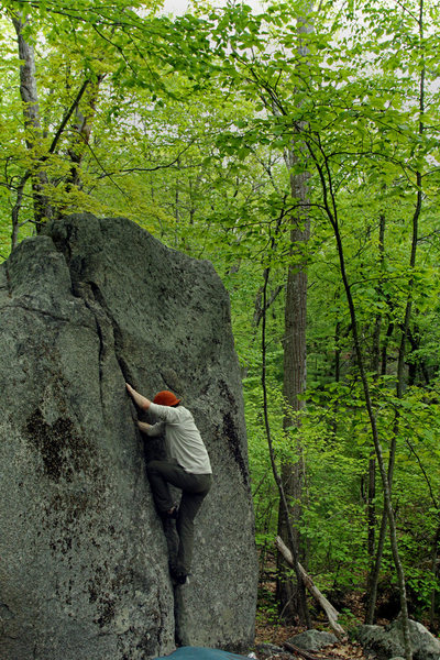 Rock Climbing Photo: Phantom downclimb crack is an enjoyable warm up...