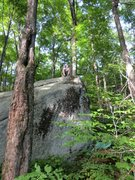 Rock Climbing Photo: One of many sweet boulders at Green Brook.