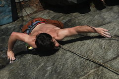 Rock Climbing Photo: Big gaston move after the opening high step