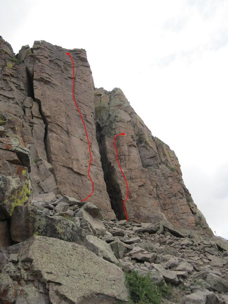 Rock Climbing Photo: Blue Nile right. Mountains of the Moon left.