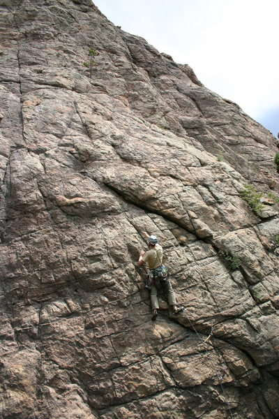 "Rock Climbing Photo: First ""legal"" ascent at Staunton."