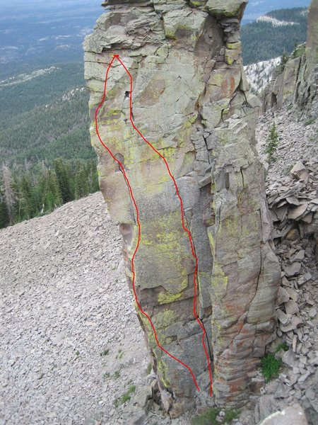 Rock Climbing Photo: Toga Tower north face, Heart of Darkness left. Afr...