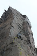 Rock Climbing Photo: Decent crack with a thin start. Thin to hands, use...