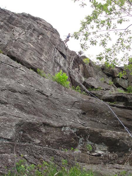 Rock Climbing Photo: Leah on Glory Hole.