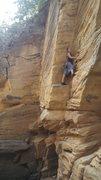 Rock Climbing Photo: Colette feeling confident.