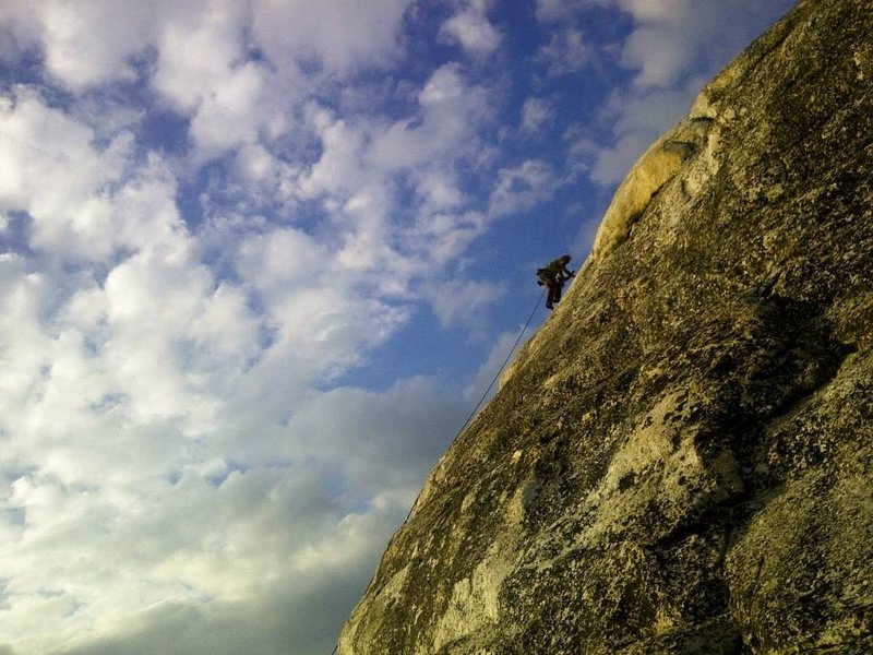 Rock Climbing Photo: Marc high up on Northwest Books