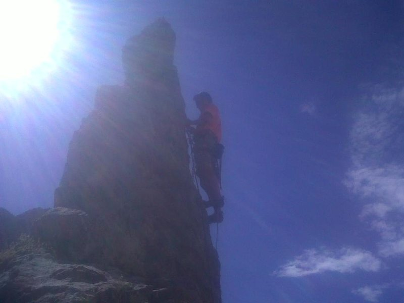 topping out the route
