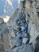 Rock Climbing Photo: Mike Buturla and Gineth Soto at the top of the 1st...