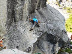 Rock Climbing Photo: Pitch 1 traverse