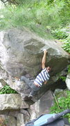 Rock Climbing Photo: Blair on the classic move.
