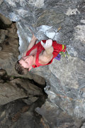 Rock Climbing Photo: the move to the jug as you enter the steeps...