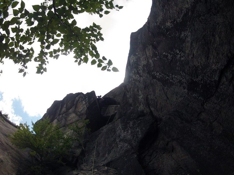 Rock Climbing Photo: Cave finish. Very fun.   Note: the start of this p...