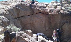 Rock Climbing Photo: The P.I.Z.Z.A. problem.