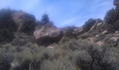 Sorry for the blurry picture, but here is the boulder.