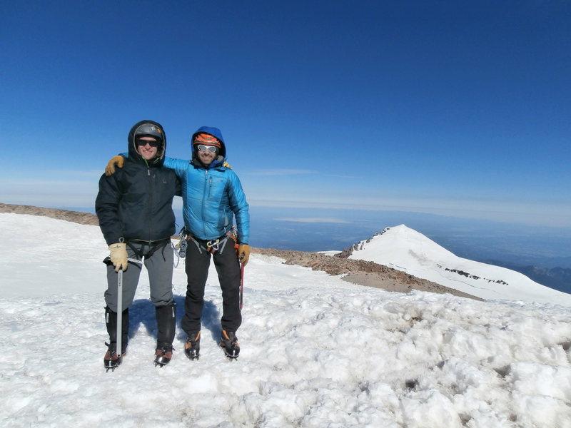 SUMMIT!!  With Josh on top of Rainier.