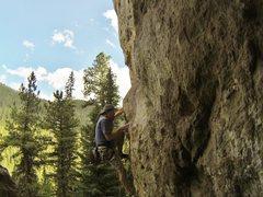 Rock Climbing Photo: Blue Sky Blond, 5.11d
