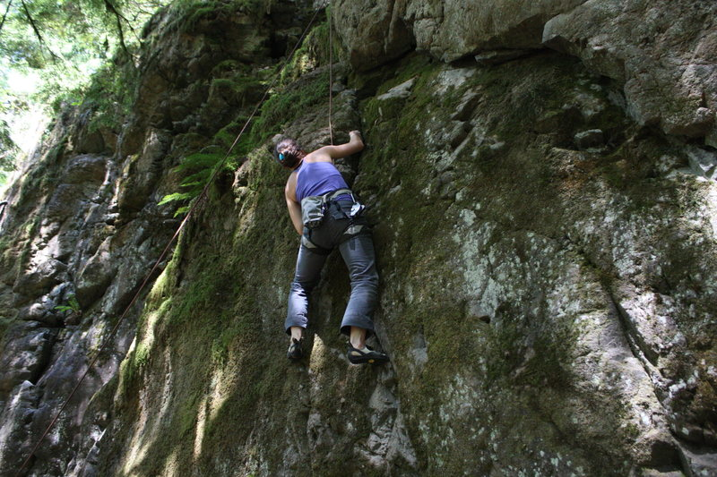 just passing the crux