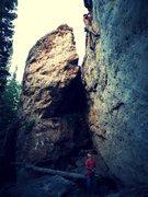 Rock Climbing Photo: B.J. Tilden, an original County Ten Gunslinger, do...