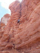 Rock Climbing Photo: a good look at the route we did. the other one is ...