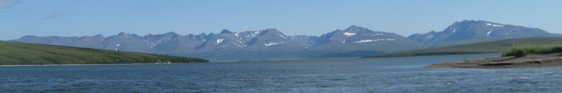 The Kigluaik Mountains to the north of Nome as viewed from the Imruk Basin.