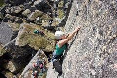 Rock Climbing Photo: Eliza works up the route on TR.