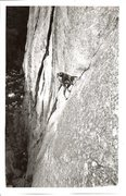 Rock Climbing Photo: Thom Byrne, Archangel, 1987.  Photo: Rob Bauer.