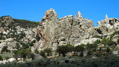 Rock Climbing Photo: How the formation will look as you approach it, th...