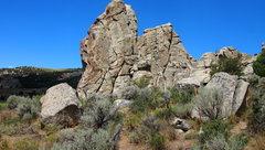 "Rock Climbing Photo: Yellow Wall - ""Yellow Wall"" (5.9), the e..."
