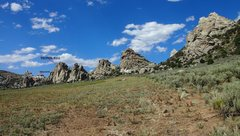 Rock Climbing Photo: The view north as you pass the Twin Sisters.   The...