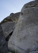 Rock Climbing Photo: photo: Mooner  A full shot of the route, late in t...