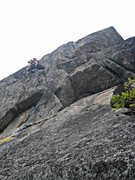 Rock Climbing Photo: Dr. Michael sending the final pitch of Heaven's Ga...