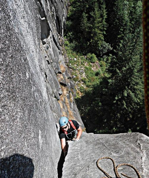 Rock Climbing Photo: Loren Foss on P2 of DHLA.