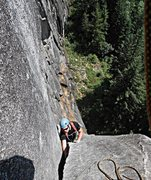 Rock Climbing Photo: Loren Foss on P2 of DHLA.