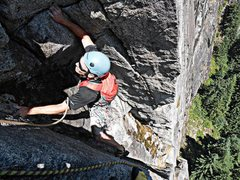 Rock Climbing Photo: Loren Foss on pitch 1 of Lovin' Arms