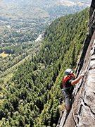 Rock Climbing Photo: Loren Foss on pitch 2 of Lovin' Arms.